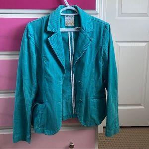 Brody Teal corduroy jacket blazer